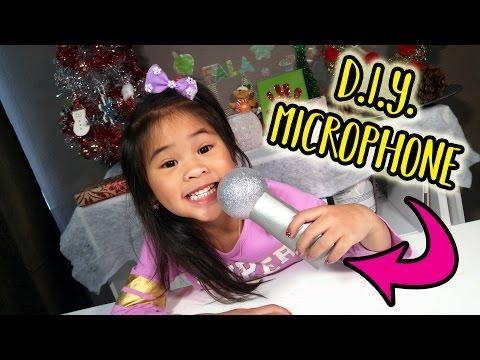 Easy DIY Microphone! | Sing Movie Craft Tutorial | Pretend Microphone Craft