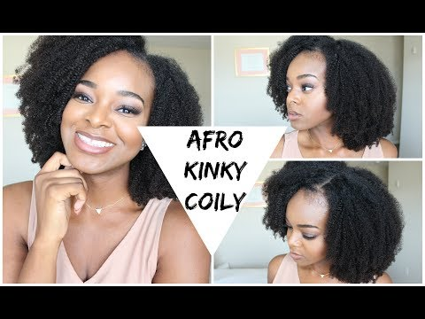 Kinky Curly Wig With Leave Out 4c Hair | Queen Weave Beauty - Ify Yvonne