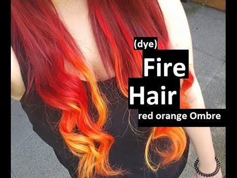 [DYE] FIRE HAIR (Red Orange Ombre)