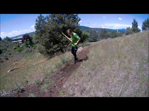 mountain bike trail building part 2 - finishing K trail and winter damage repair + riding