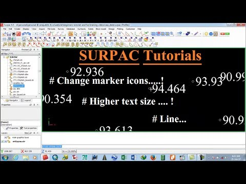 How to Customise text,point marker , line , polygon in SURPAC