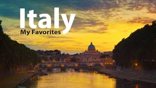 Italy Best Top Places to See and Photograph, 4K Stock Footage