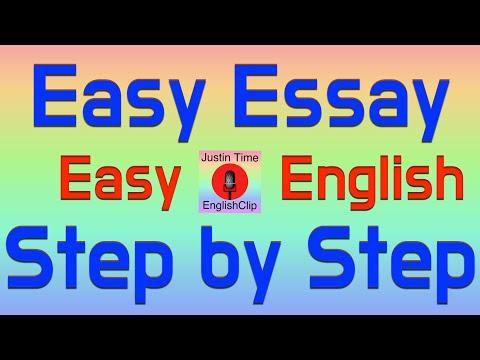 How to Write a Basic Essay - Easy English Fun EFL Color Code