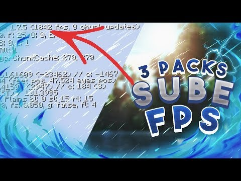 TOP 3 MINECRAFT TEXTURE PACK PVP | 1.7 1.8 | SIN LAG SUBE FPS 2018