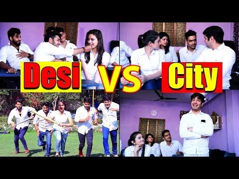 School Life Of Desi VS City || Virat Beniwal