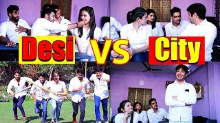 School Life Of Desi VS City || Virat Beniwal