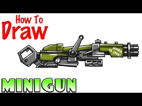 How to Draw the Minigun | Fortnite