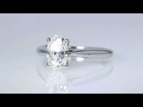 0.83CT Oval Brilliant Diamond Engagement Ring GIA Certified $2750