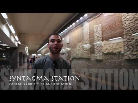 Travel Guide Athens Metro Syntagma Station Athens, Greece