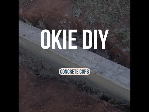 How to Build a Concrete Curb under a Gate