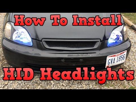 How To Install HID Headlights - Honda Civic