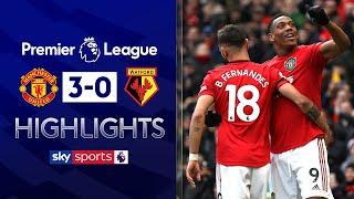 Bruno Fernandes scores his first goal!   Manchester United 3-0 Watford   EPL Highlights
