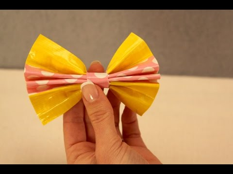 How to Make Duct Tape Bows | Sophie's World