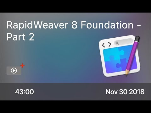 SCOM0791 - RapidWeaver 8 Foundation - Part 2 - Preview