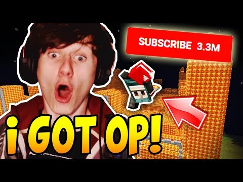 I GOT OPPED ON A GIANT YOUTUBER'S MINECRAFT SERVER (3 mill subs)