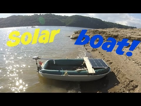 Solar electric boat project!  Detail & cruising on EPIC lake