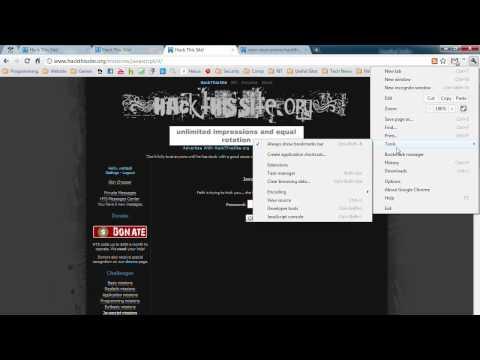 Hack This Site Javascript Challenges (1-7)
