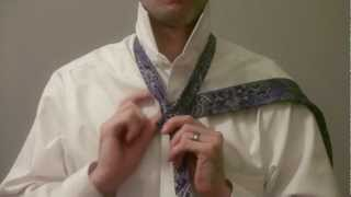 How To Tie A Tie Slowly Full Windsor Knot
