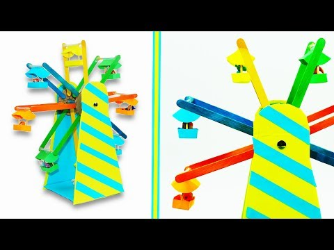 DIY crafts | How to make a Miniature Ferris wheel  ZEN GARDEN | DIY Stress-Relieving Desk Decoration