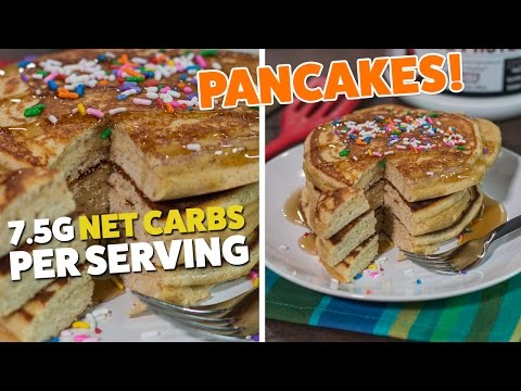 FLUFFY & QUICK KETO LOW CARB PANCAKES RECIPE