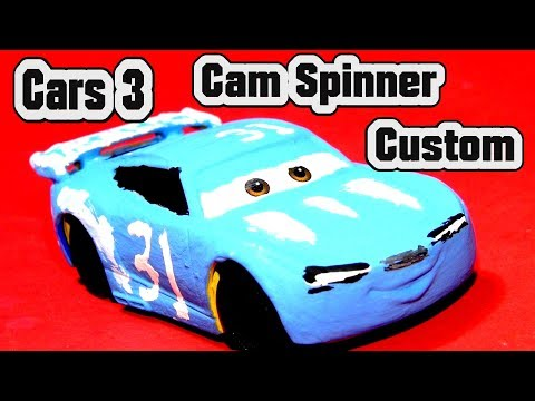 Pixar Cars 3 Cam Spinner Custom with Miss Fritter and Primer Car Lightning McQueen and Fabulous Doc