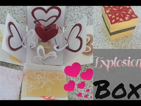 Valentine day Special 2 Layer Explosion Box made from waste Invitation Cards | creative craft art