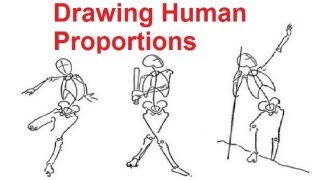 Figure Drawing Lessons 28 Drawing Human Proportions Using Stick Figur