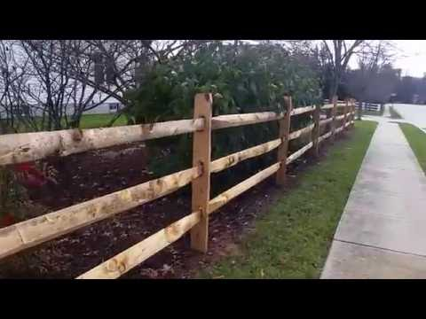 Split Rail installation