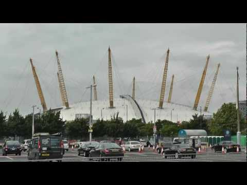 North Greenwich Arena - the O2 Dome - & the Emirates Air Line cable car system