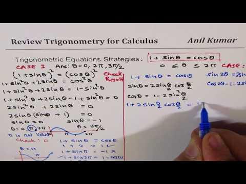 Two Strategies to Solve Trigonometric Equation 1 + sinx = cosx