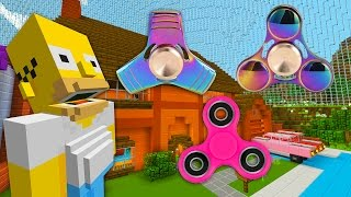 Homer Gets A Fidget Spinner    The Simpsons   Minecraft Xbox [64]