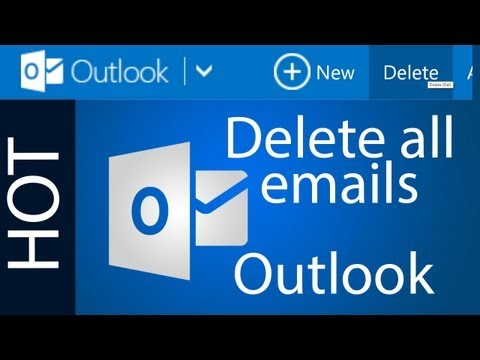How to delete all emails in Outlook (Hotmail) - Tutorial