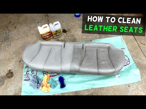 HOW TO CLEAN CAR LEATHER SEATS LIKE A PRO