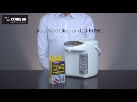 How to clean your Zojirushi Water Boiler & Warmer using Citric Acid Cleaner CD-K03EJU