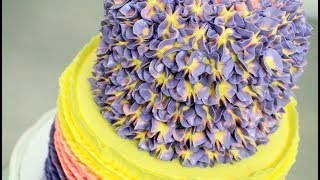BUTTERCREAM HYDRANGEA CAKE How To Make by Cakes StepbyStep