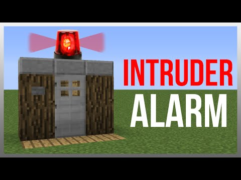 Minecraft 1.12: Redstone Tutorial - Intruder Alarm!