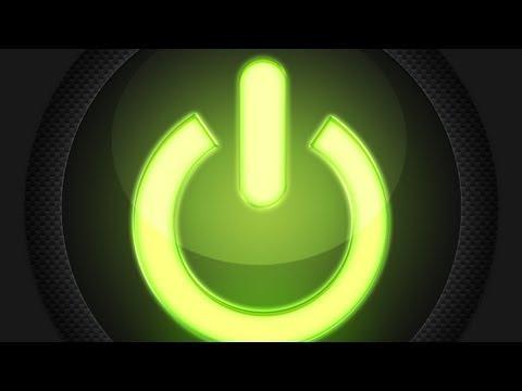 Photoshop: Carbon Fiber Power Button |