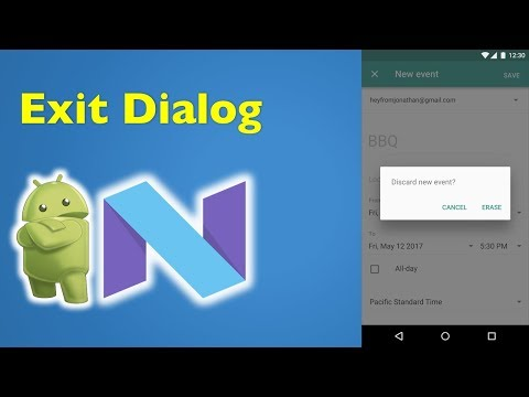 32 Android Material Design- How to Create Exit Confirmation Dialog in Android