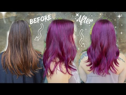 Purple/Magenta Permanent Hair Color Makeover ★ UNICORN+MERMAID SERIES