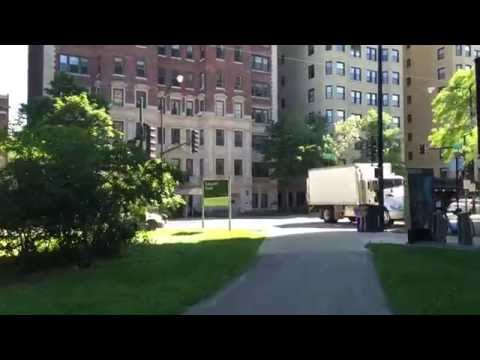 How to ride the bike from Lincoln park Chicago downtown & Chicago CTA Redline station (part1)