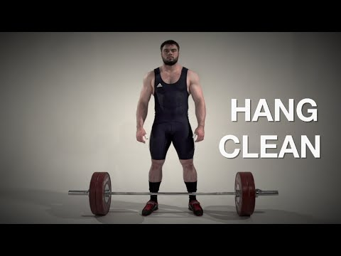 Hang CLEAN / weightlifting & crossfit