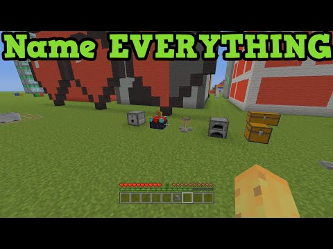 Minecraft Xbox 360 + PS3 How To Name EVERYTHING & NPC Villagers