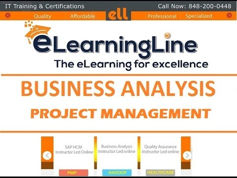 Business Analyst online training Project Management Life Cycle by ELearningLine @848-200-0448