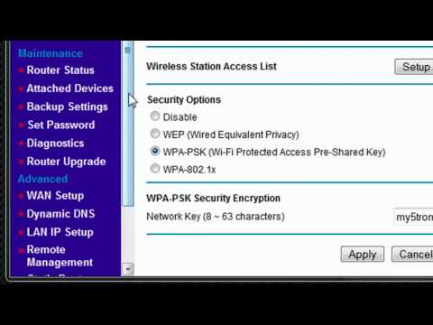 Wireless Networks: Changing Security Settings