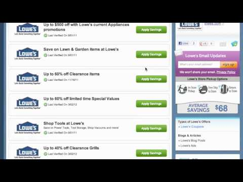 Lowe's Coupon Code 2013 - How to use Promo Codes and Coupons for Lowes.com