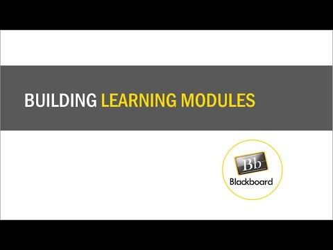 Learning Modules in Blackboard