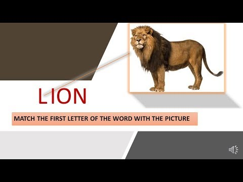 Match the English Letter with the first Letter for the name of the picture
