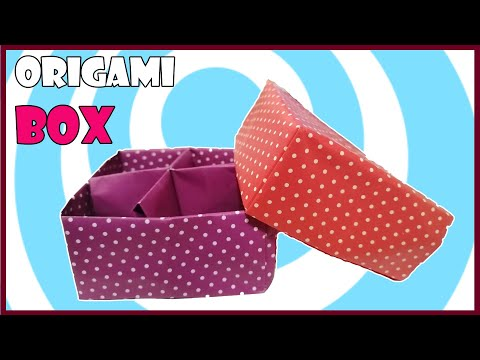 Origami Box with Divider ✔ Easy Video Tutorial