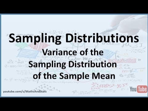 The Variance of the Sampling Distribution of the Sample Mean