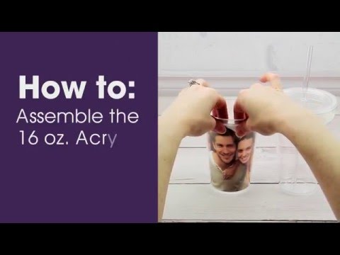 How to Insert Your Photo in the Neil Enterprises Photo Tumbler with Straw (#592C)